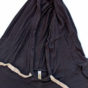 Ocasion Tops - California Black Hoodie Sparkle Thin Knit Pocket